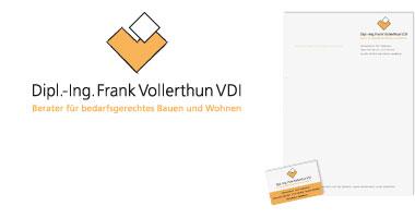 Logo und Geschäftsaustattung Frank Vollerthun