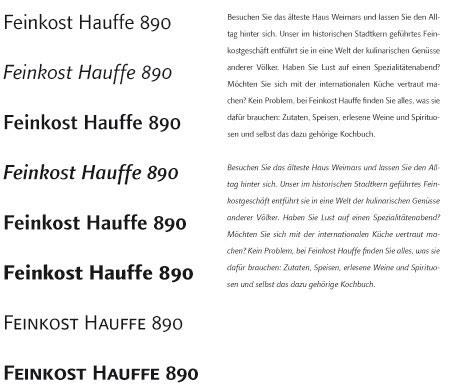 Schrift Feinkost Hauffe