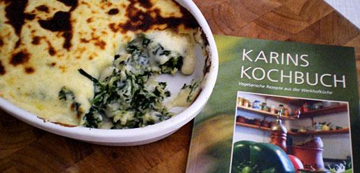 Karins Kochbuch und Spinatgnocchi