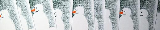 Weihnachtskarten mit Schneemann