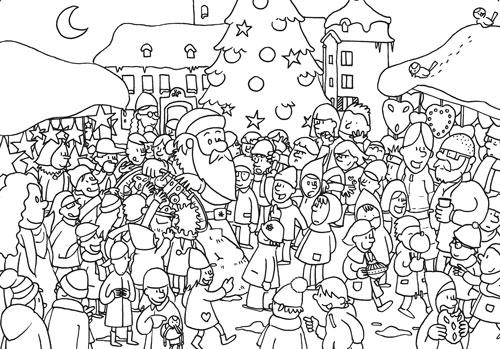 Illustration Weihnachtskarte