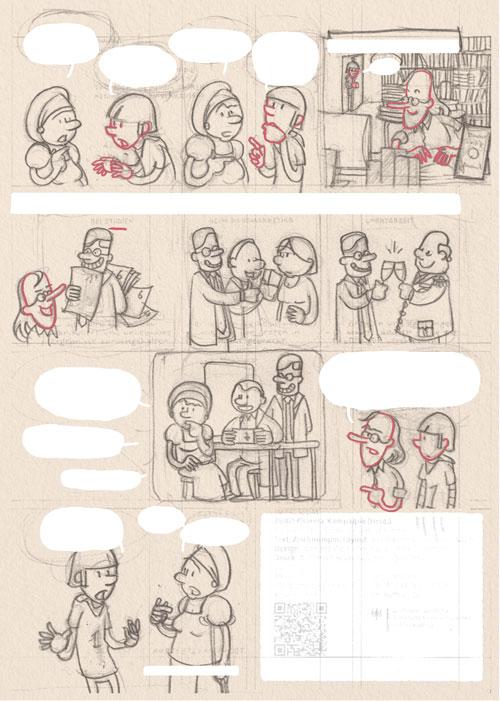 Diabetes Comic Vorzeichnung
