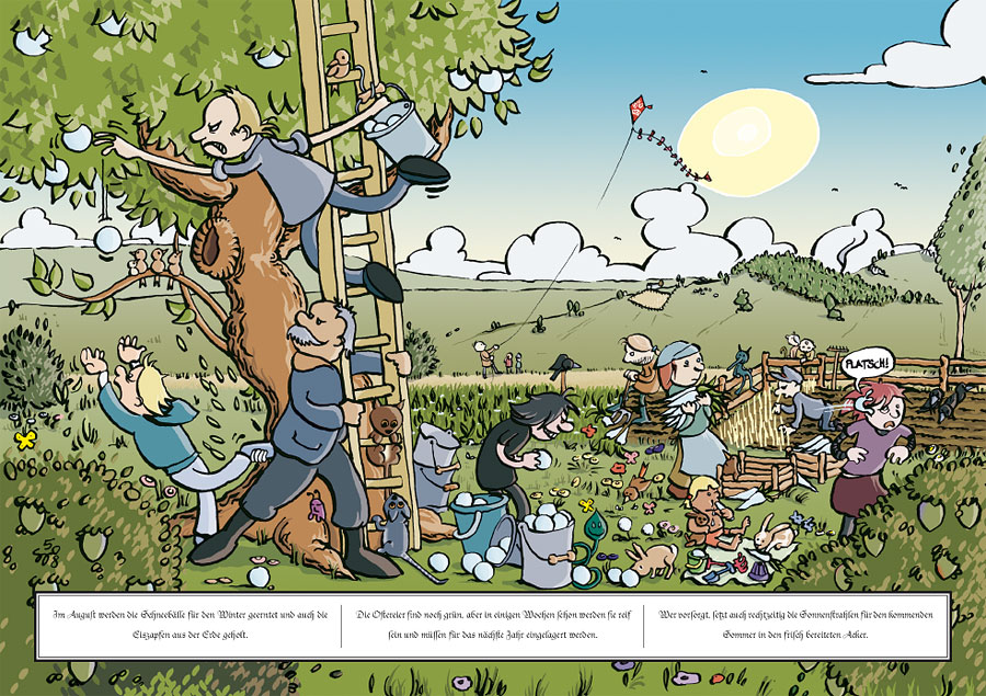 Der August im Comicforum-Kalender 2009