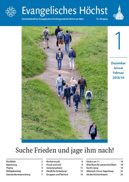 """Gemeindebrief """"Evangelisches Höchst"""" 1/2019"""