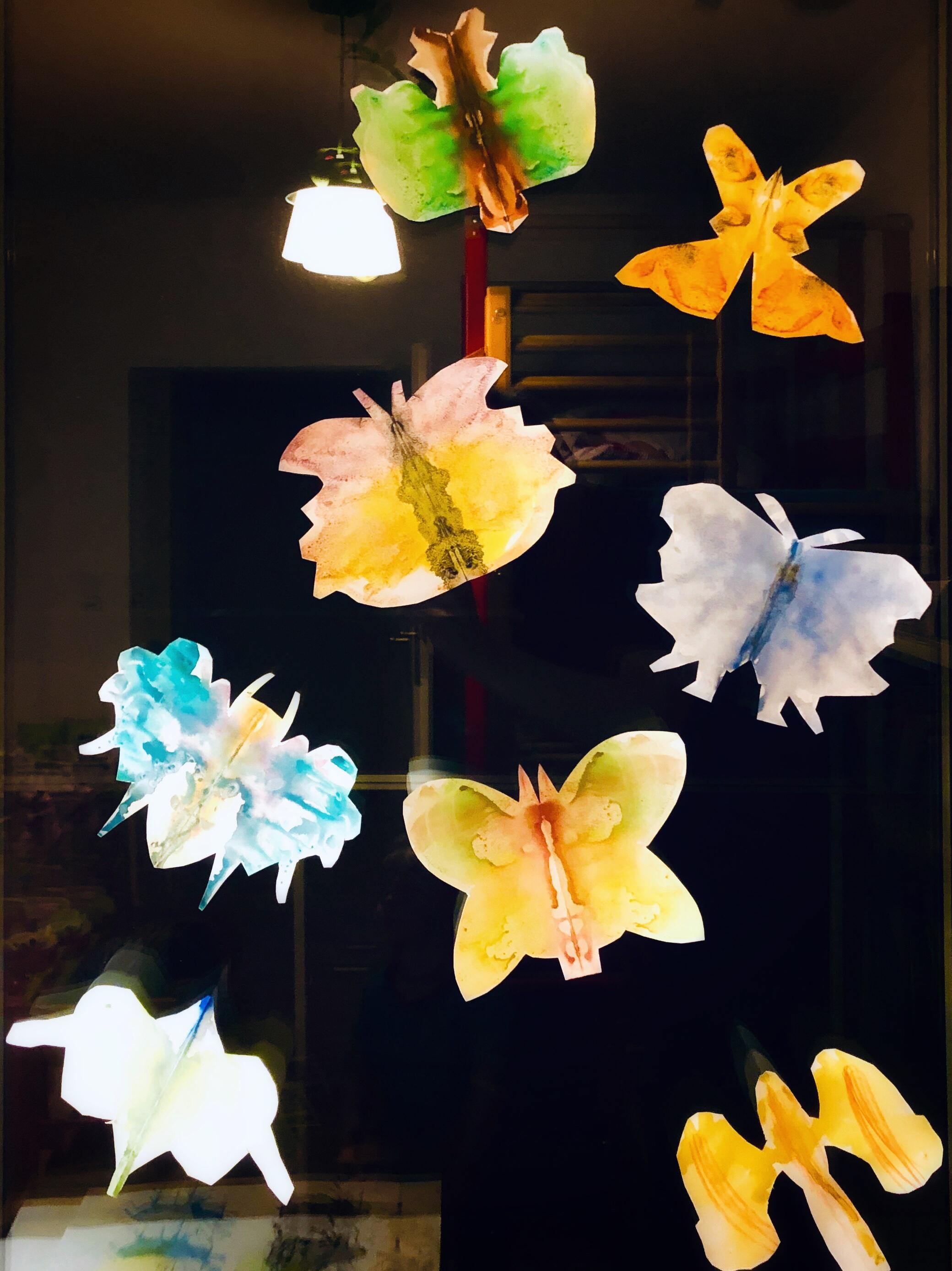 Kinderbastelei: Schmetterlinge